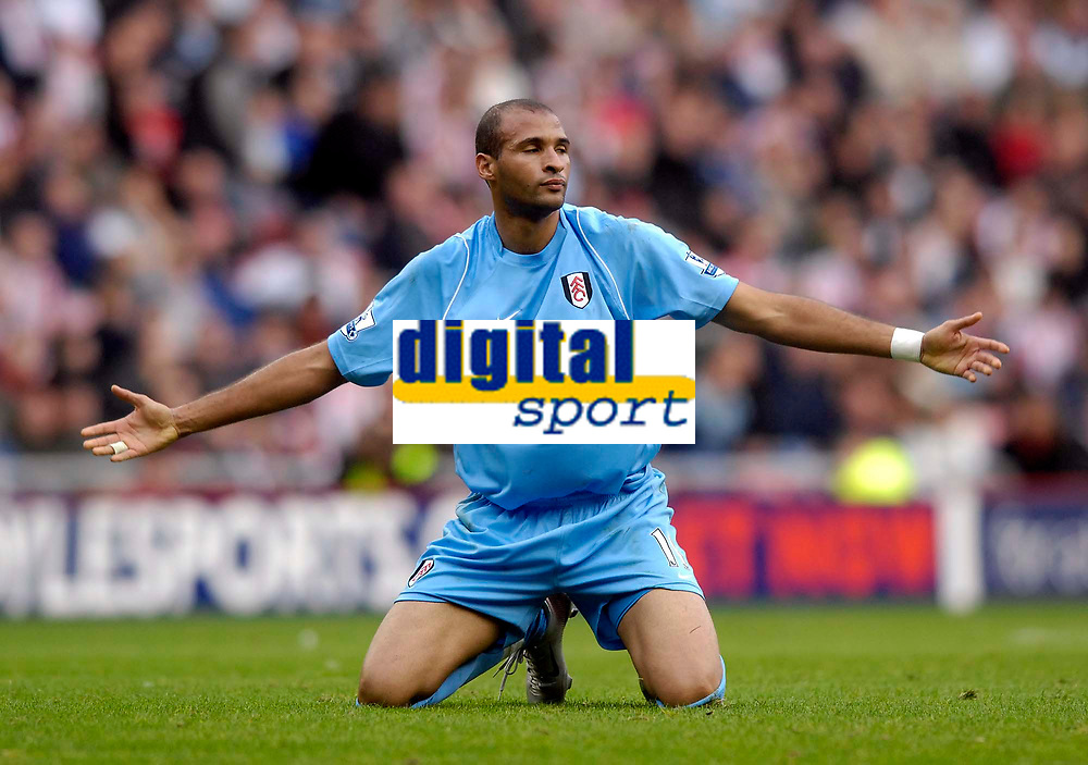Photo: Jed Wee/Sportsbeat Images.<br /> Sunderland v Fulham. The FA Barclays Premiership. 27/10/2007.<br /> <br /> Fulham Diomansy Kamara raises his hands in frustration following another foul having earlier been denied a decision when he would have been through on goal.