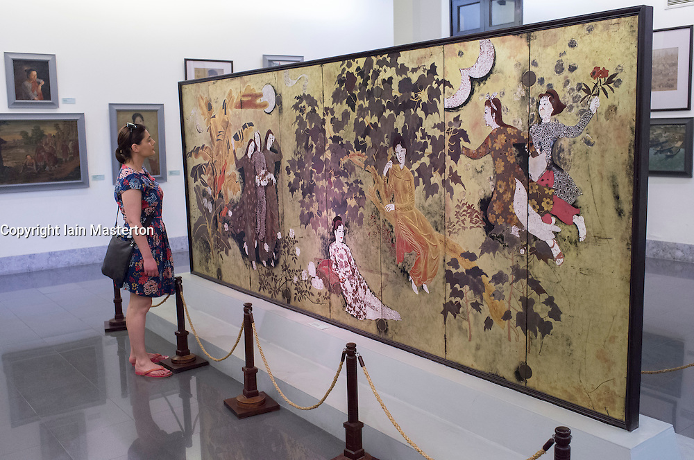 Paining by Nguyen Gia Tri at Vietnam Museum of Fine Arts in Hanoi