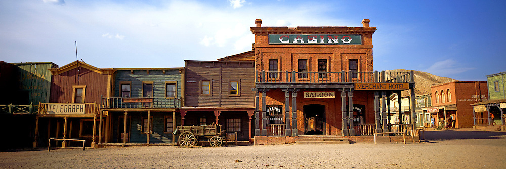 SPAIN, ANDALUSIA Mini Hollywood movie set for filming westerns; Mainstreet; near Tabernas, north of Almeria
