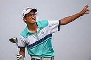 Kartik SHARMA (IND) watches his tee shot on 6 during Rd 3 of the Asia-Pacific Amateur Championship, Sentosa Golf Club, Singapore. 10/6/2018.<br /> Picture: Golffile | Ken Murray<br /> <br /> <br /> All photo usage must carry mandatory copyright credit (© Golffile | Ken Murray)