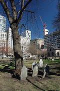 Pioneer graves, Boston Common, Boston, USA