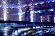 Gary Anderson walks on during the William Hill World Darts Championship Semi-Finals at Alexandra Palace, London, United Kingdom on 2 January 2021.