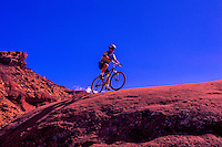Mountain biking, Bear-Claw Poppy Trail, near St. George, Utah
