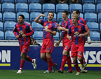 Photo: Lee Earle.<br /> Coventry City v Crystal Palace. Coca Cola Championship. 13/01/2007. Palace's Carl Fletcher (2ndL) celebrates after scoring their first.