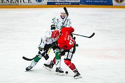 Jaka Sodja during during Alps League Ice Hockey match between HDD SIJ Jesenice and HK SZ Olimpija on January 2, 2021 in Ice Arena Podmezakla, Jesenice, Slovenia. Photo by Peter Podobnik / Sportida
