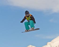 07.12.2010,AUT, Schlegelkopf, Lech am Arlberg, LG Snowboard, FIS Worldcup SBX, im Bild Anthonioz Deborah, FRA, #26, EXPA Pictures © 2010, PhotoCredit: EXPA/ P. Rinderer