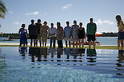 Kumari Isssur, Matt Thorne, Ben Markowits, Tilda Swinton, Tim Lott, Joanna Briscoe, Blake Morrison, Louise Dean, Jacqueline Wilson and Mark Lawson. Preparing for the Le Prince Maurice Prize. Mauritius. 26 May 2006. ONE TIME USE ONLY - DO NOT ARCHIVE  © Copyright Photograph by Dafydd Jones 66 Stockwell Park Rd. London SW9 0DA Tel 020 7733 0108 www.dafjones.com