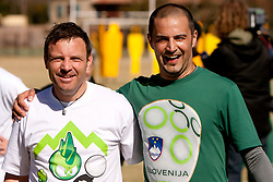 Sandi Skvarc and Uros Stanic of NZS during the friendly match between Slovenian football journalists and officials of Slovenian football federation at  Hyde Park High School Stadium on June 16, 2010 in Johannesburg, South Africa.  (Photo by Vid Ponikvar / Sportida)