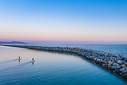 Paddle Boarding Dana Point Harbor at Sunset