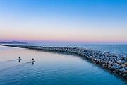 Paddle Boarding Dana Point Harbor at Sunset