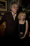 SIR BOB GELDOF and KYLIE MINOGUE, Pre Bafta dinner hosted by Charles Finch and Chanel. Mark's Club. Charles St. London. 9 February 2008.  *** Local Caption *** -DO NOT ARCHIVE-© Copyright Photograph by Dafydd Jones. 248 Clapham Rd. London SW9 0PZ. Tel 0207 820 0771. www.dafjones.com.
