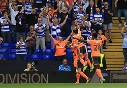 Jon Dadi Bodvarsson of Reading celebrates after scoring the opening goal for his side (0-1) - Mandatory by-line: Paul Roberts/JMP - 26/08/2017 - FOOTBALL - St Andrew's Stadium - Birmingham, England - Birmingham City v Reading - Sky Bet Championship