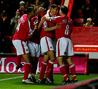 Fotball<br /> Premier League England 2004/2005<br /> Foto: BPI/Digitalsport<br /> NORWAY ONLY<br /> <br /> Charlton Athletic v Fulham <br /> FA Barclays Premiership<br /> 20/12/2004<br /> <br /> Talal El Kakouri celebrates Charlton's second of the evening