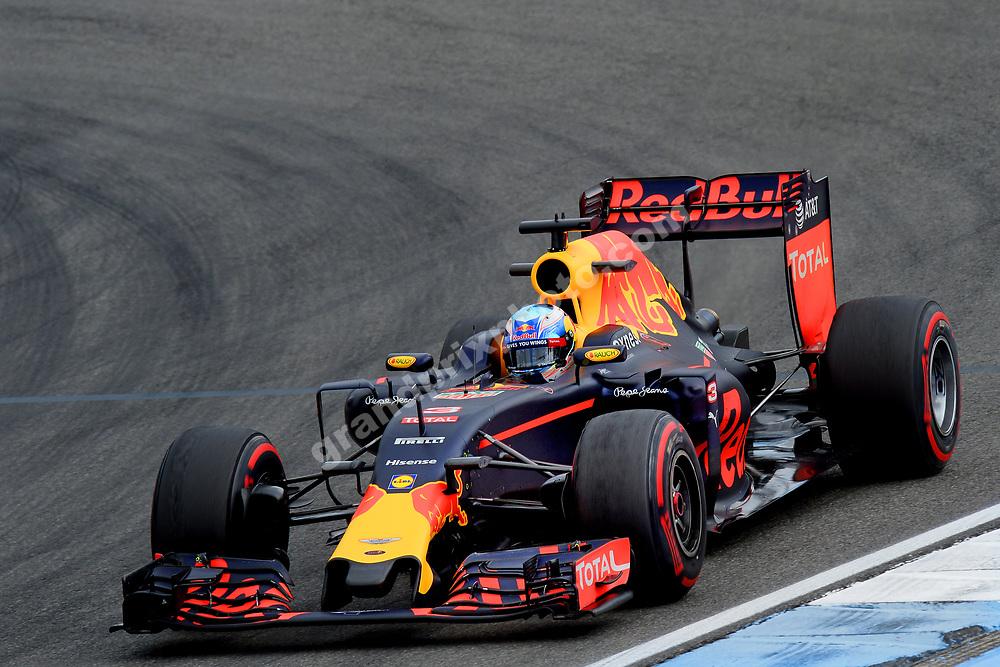 Daniel Ricciardo (Red Bull-Renault) during practice before the 2016 German Grand Prix in Hockenheim. Photo: Grand Prix Photo