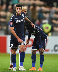 Cape Town-180411 Disappointed Wits players Keegan Ritchie and Thabang Monare  after losing -0 against Ajax Cape Town in a PSL match played at Athlone stadium.photographer:Phando Jikelo/African News Agency/ANA