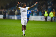 Peterborough United forward Ivan Toney (17) applauds the fans after  the EFL Sky Bet League 1 match between Gillingham and Peterborough United at the MEMS Priestfield Stadium, Gillingham, England on 22 September 2018. Picture by Martin Cole