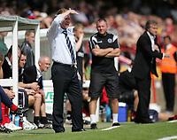 Photo: Lee Earle/Richard Lane Photography. <br /> Aldershot Town v AFC Bournemouth. Coca Cola League 2. 16/08/2008.    Aldershot manager Gary Waddock (L).