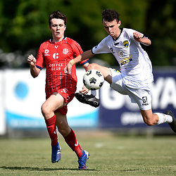 BRISBANE, AUSTRALIA - MARCH 7:  during the NPL Queensland u18's Round 1 match between Olympic FC and Gold Coast United on March 7, 2021 in Brisbane, Australia. (Photo by Patrick Kearney)