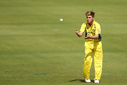 Adam Zampa of Austrailia during the 5th ODI match between South Africa and Australia held at Newlands Stadium in Cape Town, South Africa on the 12th October  2016<br /> <br /> Photo by: Shaun Roy/ RealTime Images