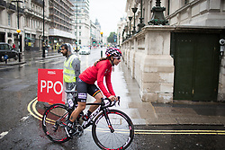 Elise Delzenne (FRA) of Lotto Soudal Cycling Team rides to the start of the Prudential Ride London Classique - a 66 km road race, starting and finishing in London on July 29, 2017, in London, United Kingdom. (Photo by Balint Hamvas/Velofocus.com)