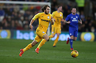 Ben Pearson of Preston North End in action. EFL Skybet championship match, Cardiff city v Preston North End at the Cardiff city stadium in Cardiff, South Wales on Friday 29th December 2017.<br /> pic by Andrew Orchard, Andrew Orchard sports photography.