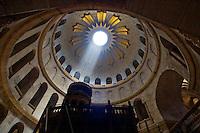 Inside of a temple in Jerusalem.