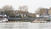 Putney, London, Varsity Boat Race, 07/04/2019, 2019 Oxford v Cambridge, Women's  Race, Women's Race, Championship Course,<br /> [Mandatory Credit: Patrick WHITE], Sunday,  07/04/2019,  2:13:58 pm,