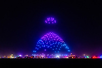 Drone LightShow - https://Duncan.co/Burning-Man-2021