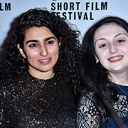 Iman Boujei,Yadida Gaba attend TriForce Short Festival, on 30 November 2019, at BFI Southbank, London, UK.