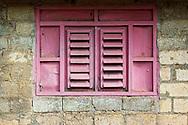 Pink window in Ciego de Avila, Cuba.