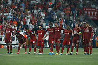 ISTANBUL, TURKEY - AUGUST 14: Liverpool players look on during penalty shoot-out during the UEFA Super Cup match between Liverpool and Chelsea at Vodafone Park on August 14, 2019 in Istanbul, Turkey. (Photo by MB Media/Getty Images)