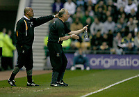 Photo: Steve Bond.<br /> Derby County v Luton Town. Coca Cola Championship. 20/04/2007. Brian Stein (L) & Kevin Blackwell (R)give instructions to the Luton team