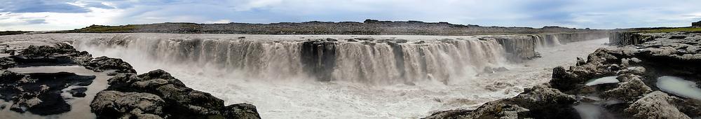 Iceland. Selfoss is a waterfall in Vatnajökull National Park on the Jökulsá á Fjöllum river.