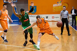Blaz Mahkovic of KK Helios Suns during basketball match between KK Helios Suns and KK Petrol Olimpija in Playoffs of Liga Nova KBM 2017/18, on March 26, 2018 in Hala Kominalnega Centra, Domzale, Slovenia. Photo by Urban Urbanc / Sportida