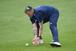 England's Jason Roy during the nets session at Cardiff Wales Stadium.
