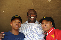 Pretoria. Currie Cup rugby. Loftus Versveld Stadium in Arcadia. 01-09-18 Blue Bulls vs Gauteng Lions. Parents and younger brother of Lions player Wandisile Simelane, Sanele, Chris and Gloria Simelane from Soweto to watch their son play against the Blue Bulls. <br /> Picture: Karen Sandison/African News Agency(ANA)