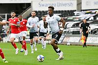 Football - 2020 / 2021 Sky Bet Championship - Play-offs - Semi-final, second leg - Swansea City vs Barnsley - Liberty Stadium.<br /> <br /> Jamal Lowe Swansea City on the ball <br /> <br /> COLORSPORT/WINSTON BYNORTH