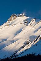 Nigel Peak bathed in the light of a winter sunset, Jasper National Park Alberta Canada