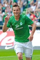 06.08.2011, Weser Stadion, Bremen, GER, 1.FBL, Werder Bremen vs 1.FC Kaiserslautern, im Bild.1:0 Bremen Jubel Torschuetze Markus Rosenberg (Bremen #11) .// during the Match GER, 1.FBL, Werder Bremen vs 1.FC Kaiserslautern on 2011/08/06,  Weser Stadion, Bremen, Germany..EXPA Pictures © 2011, PhotoCredit: EXPA/ nph/  Kokenge       ****** out of GER / CRO  / BEL ******