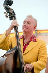 Double Bass Ken Smith..9 September 2012.Image © Paul David Drabble