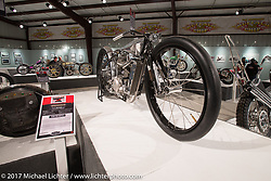 Max Hazan's custom KTM in the Old Iron - Young Blood exhibition in the Motorcycles as Art gallery at the Buffalo Chip during the annual Sturgis Black Hills Motorcycle Rally.  SD, USA. Friday August 11, 2017.  Photography ©2017 Michael Lichter.