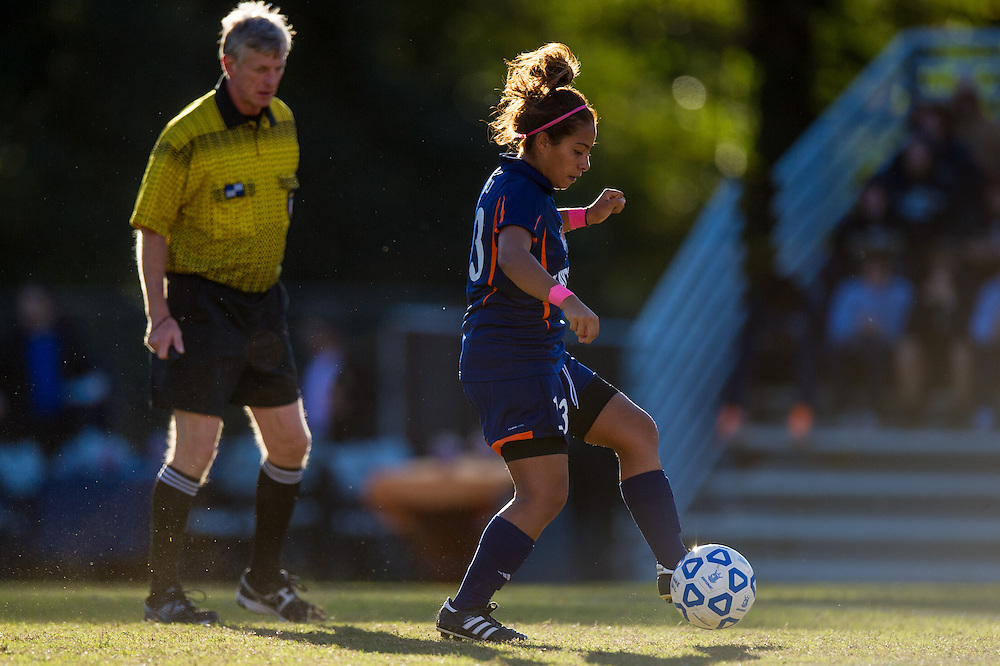 Oct 23, 2013; Morrow, GA, USA; Clayton State women's soccer player Daniela Diaz against Georgia Southwestern at CSU. CSU won 4-0. Photo by Kevin Liles/kevindliles.com
