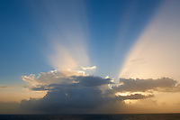 Caribbean Sunrise Light Show off Barbados. Image taken with a Nikon D3x and 24 mm f/3.5 PC-E lens (ISO 200, 24 mm, f/16, 1/ 100 sec).