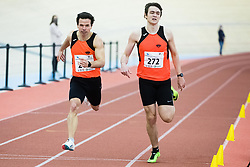 Tadej Enci with Tomaz Turinek during Slovenian Indoor Championship, Olympic centre Novo Mesto, 13 February 2021, Novo Mesto, Slovenia. Photo by Grega Valancic / Sportida