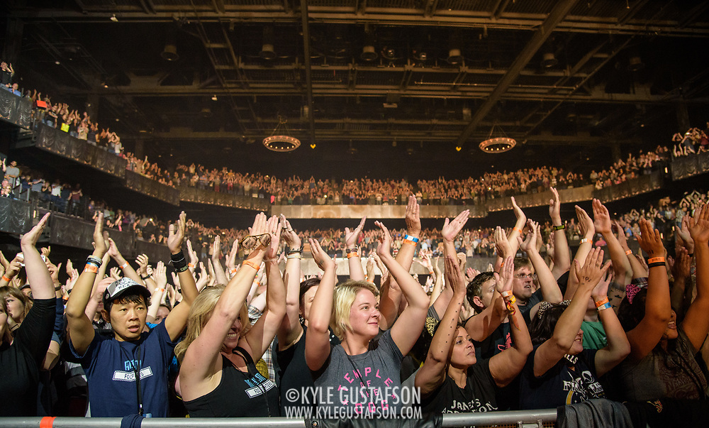 WASHINGTON, DC - October 12th, 2017 - The crowd at The Anthem react as Foo Fighters perform during the venue's opening concert. Located at The Wharf in SW, The Anthem can hold up to 6,000 people. (Photo by Kyle Gustafson / For The Washington Post)