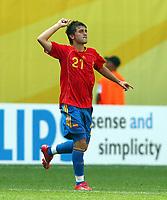 2:0 Jubel fuer Spanien durch David Villa <br /> Fussball WM 2006 Spanien - Ukraine<br /> Spania - Ukraina <br />  <br /> Norway only