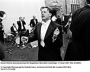 Derek Wilson dancing during the Magdalene May Ball, Cambridge. 17 June 1987. film 87490f23<br />© Copyright Photograph by Dafydd Jones<br />66 Stockwell Park Rd. London SW9 0DA<br />Tel 0171 733 0108