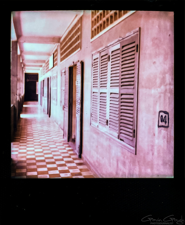 Doors to a cell block, Tuol Sleng S-21 Genocide Museum, Cambodia