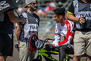 #87 (WHYTE Kye) GBR at round 8 of the 2018 UCI BMX Supercross World Cup in Santiago del Estero, Argentina.