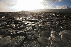 Pahoehoe lava from 1992 to 2003 eruption, Hawaii, USA Volcanoes National Park, Kilauea, Big Island, Hawaii, USA